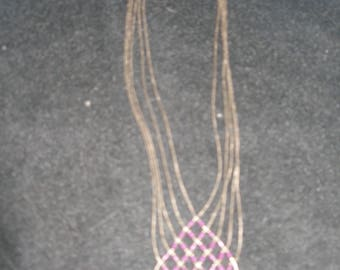 Multi Strand Sterling Necklace(704)