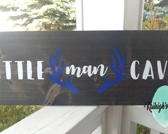 Little Man Cave Nursery Woodland Sign