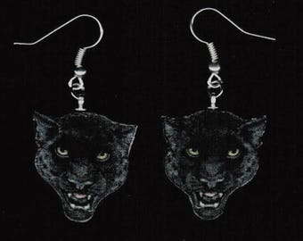 Black Jaguar Earrings