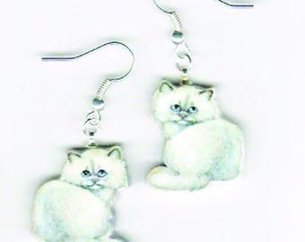 Persian Kitten Earrings