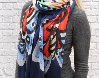 Personalised Abstract Butterfly Scarf
