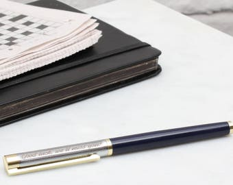 Personalised Rhodium Plated And Enamel Rollerball Pen