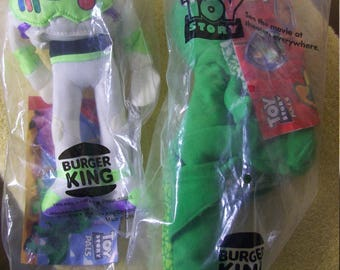 1995 Burger King Toy Story Pals Buzz and Rex