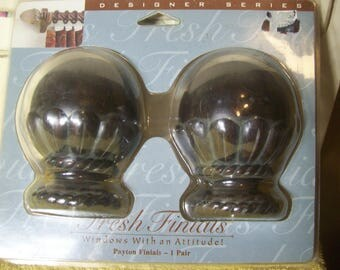 One Pair Fresh Finials Payton Finials