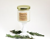 Cool Rosemary Herb Scent | Mini 100% Soy Wax Candle | 4oz