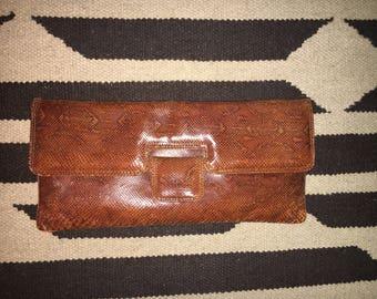 Large Vintage snakeskin clutch