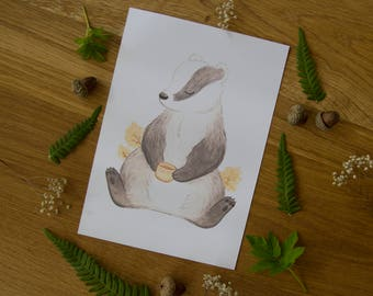 Tea Badger - Print
