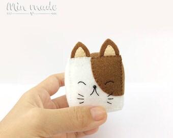 Cat,Cat doll,Felt doll,Felt toy,Toys,Handmade,Cube,Cube toy,Sensory toy,felt cat,Cat toy