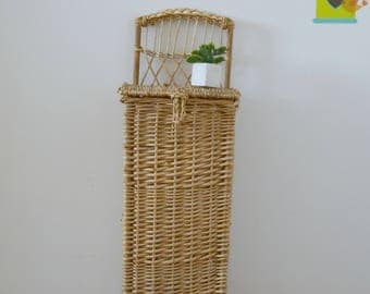 rattan and wicker, rattan bread bin