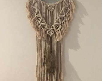 GYPSY SONG     |     Handcrafted Macrame Wall Hanger     |     NATURAL