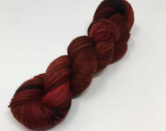 Lava Indie Dyed Yarn on Merino cashmere Nylon MCN red black tonal