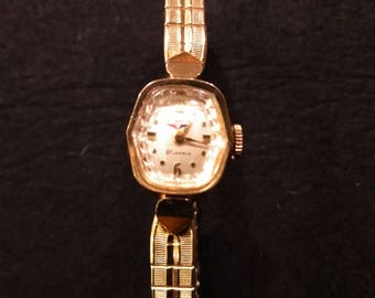 Vintage Benrus Watch Co. 21 Jewel 10k RGP Ladies Wrist Watch-WORKS