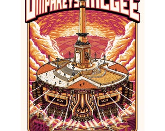 Umphrey's McGee 7/22/2017 Indianapolis poster - Pete Schaw - Regular Edition