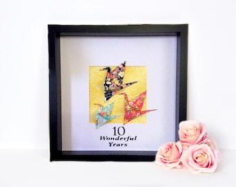 Origami Cranes   inspiring Artworks origami paper art    paper wall art   origami wall art   Valentine gift idea    gift idea   origa