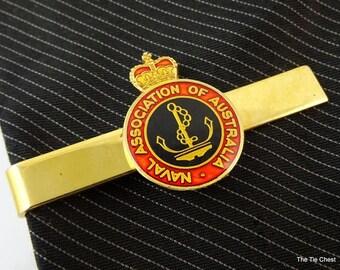 Naval Association of Australia Tie Clip Bar Gold Tone