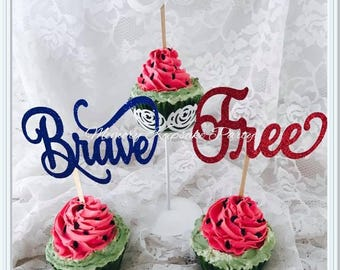 Fourth Of July Cupcake Toppers - 4th of July Cupcake Toppers - Independence Day Cupcake Toppers - USA Cupcake Toppers - Patriotic Cupcakes