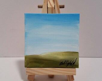 Original Painting Landscape Simple Canvas Art Mini