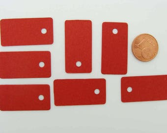50 Étiquettes carton Rouge 30x15mm pour bijoux ou petits objets pour prix ou référence