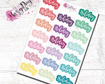 Rainbow, Holiday - Planner Stickers - for ECLP, Happy Planner, TN, Kikki-K, Filofax etc