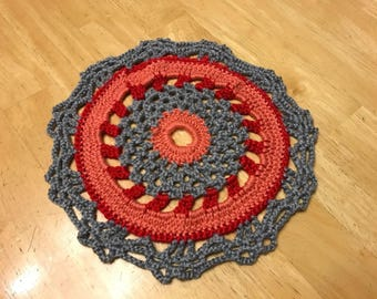 Crocheted Mandala Doily/center piece