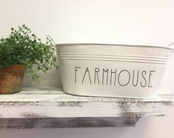 metal tins farmhouse decor mail holder metal buckets yum welcome