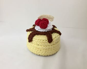 Crochet Cheesecake Box