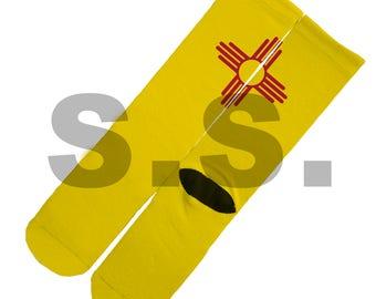 Crew Socks - New Mexico Flag! New Mexico Flag The Land of Enchantment State America elites elite sock