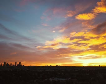 Denver Sunrise on Canvas