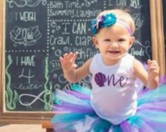 One Mermaid First Year Onesie, Fringe Dress or Toddler Shirt