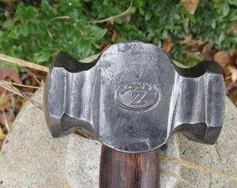 Blacksmith Rounding Hammer 26 oz.  (Hand Forged by ROYER)