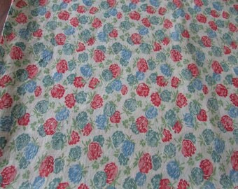 Vintage Pink Floral Cotton Feedsack Feed Sack Small Flower Flowers