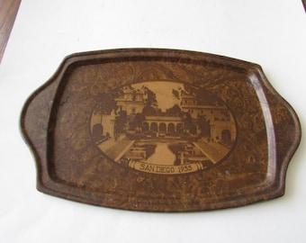 Vintage 1935 San Diego Tray Metal Expo Souvenir Item
