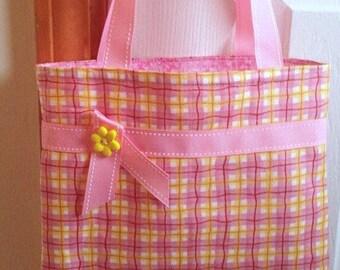 Pink Girls Purse, Girls Tote Bag, Little Girls Purse, Little Girls Tote Bag, Toddler Purse, Toddler Tote Bag, Quiet Bag, Handmade