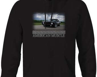 American Muscle Chevy Camaro Muscle Car Restored Hooded Sweatshirt- 5062