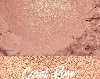 Coral Rose, Coral Loose Pigment 10 gram jar, Mineral Eye shadow Pigment