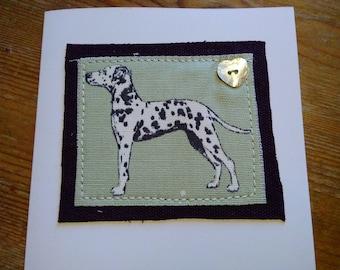 Dalmation greetings card