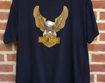 Vintage 1980s Harley Davidson motorcycles t shirt Sparky's Harley Davidson easton, PA backbite