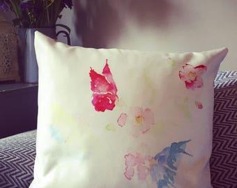 Butterflies on Blossom Cushion
