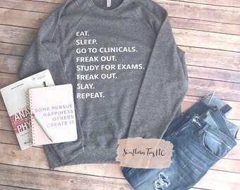 Clinical Sweatshirt, Nursing Student, Xray Student, Med Student