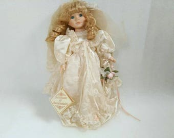 Vintage Porcelain Bride Doll Certificate of Authenticity