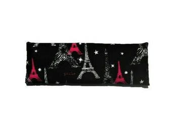 Yoga eye pillow, Reusable heat pad, Cooling pad, Headache relief, Eiffel Tower, Lavender gift, Teen gifts, Gifts for her, Gifts under 15