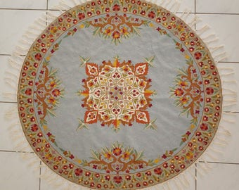5 ft round turquoise area rug circular rugs 4 ft round