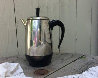 "Vintage Farberware ""Superfast"" 8-Cup Perculator"