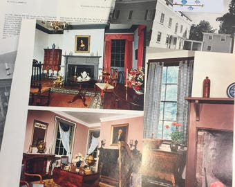 The Israel Crane House in Montclair, New Jersey.   Antiques MAGAZINE ARTICLE 1973