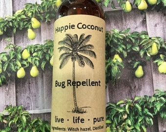 Happie Coconut Bug Repellent - Organic, All-natural, Chemical Free Bug Spray