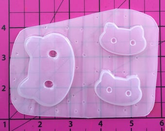 Ice cream Cat Sandwich Cookie - Resin plastic resin molds