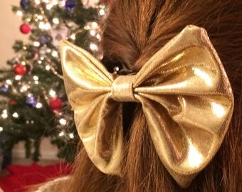 The Burning Gold Hair Bow