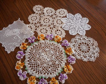Vintage Doilies and Crochet Pieces for Upcycling or Display