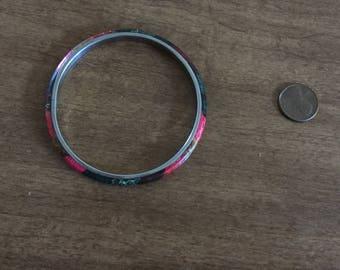 Colorful metal bangle