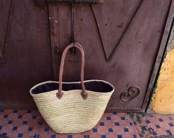 Beautiful palm tree leaves basket
